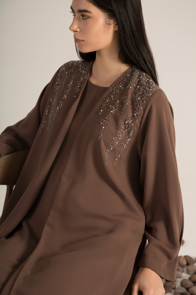 Dropped Beaded Abaya