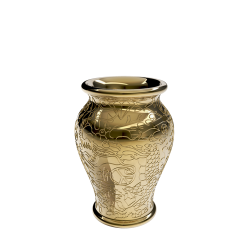 QEEBOO | Ming Vase / Planter - Metal Finish (Gold & Silver Available)