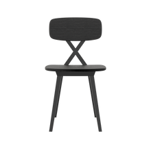 Load image into Gallery viewer, QEEBOO | X-Chair Without Cushion - Set Of 2 Pieces - Black Wood