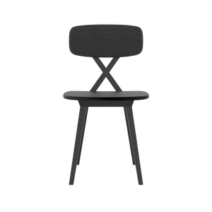 QEEBOO | X-Chair Without Cushion - Set Of 2 Pieces - Black Wood