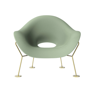 QEEBOO | Pupa Armchair - Brass Base - Indoor (Multiple Colours Available)