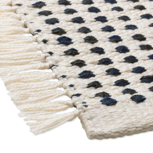FERM LIVING | Way Rug - Off-White/Dark Blue