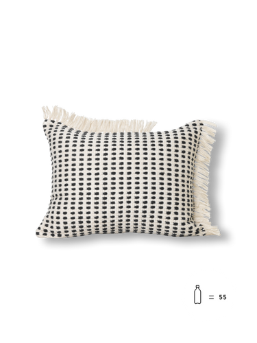 FERM LIVING | Way Cushion - Off-White/Dark Blue