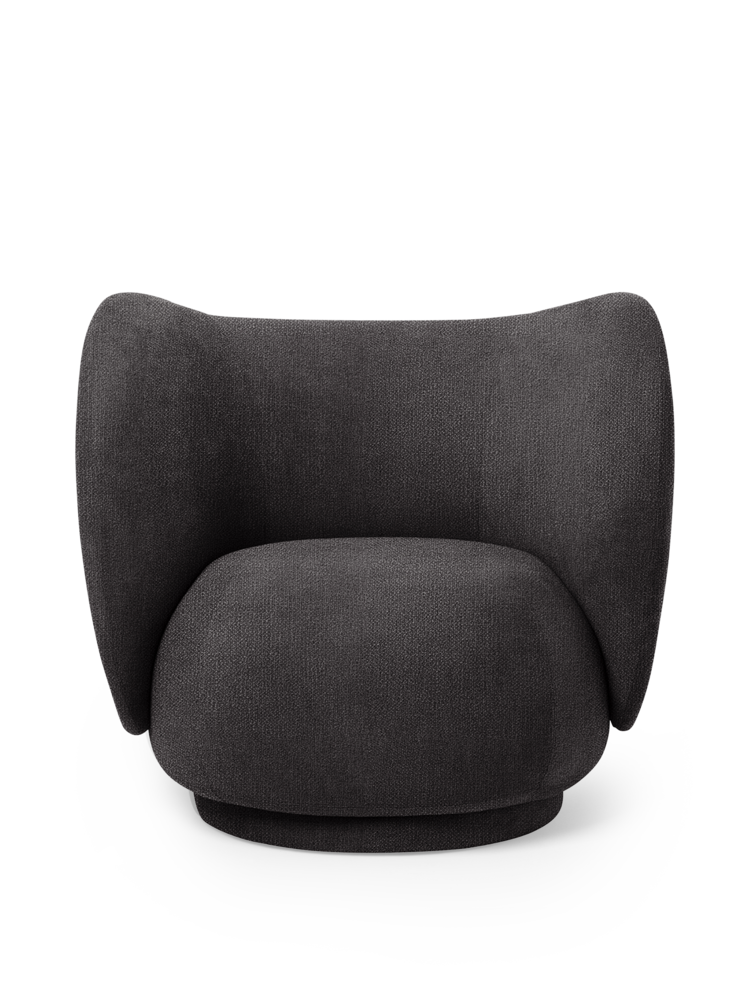 FERM LIVING | Rico Lounge Chair - Dark Grey