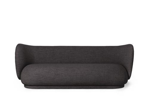 FERM LIVING | Rico Sofa 3 Bouclé - Dark Grey