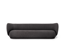 Load image into Gallery viewer, FERM LIVING | Rico Sofa 4 Bouclé - Warm Dark Grey