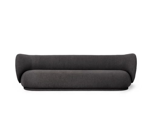FERM LIVING | Rico Sofa 4 Bouclé - Warm Dark Grey