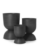 Load image into Gallery viewer, FERM LIVING | Hourglass Pot - Large - Black