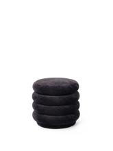 Load image into Gallery viewer, FERM LIVING | Pouf Round - Faded Velvet Mokka - Small