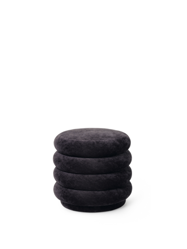FERM LIVING | Pouf Round - Faded Velvet Mokka - Small