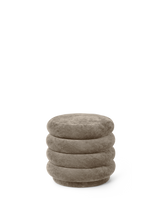 Load image into Gallery viewer, FERM LIVING | Pouf Round - Faded Velvet Beige - Small