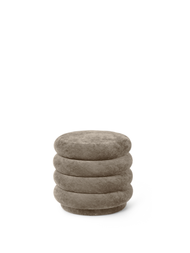 FERM LIVING | Pouf Round - Faded Velvet Beige - Small