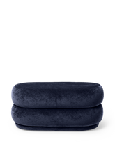 Load image into Gallery viewer, FERM LIVING | Pouf Oval - Faded Velvet Ocean - Medium
