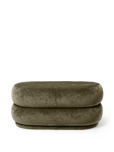 FERM LIVING | Pouf Oval - Faded Velvet Forest - Medium