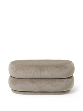 Load image into Gallery viewer, FERM LIVING | Pouf Oval - Faded Velvet Beige - Medium