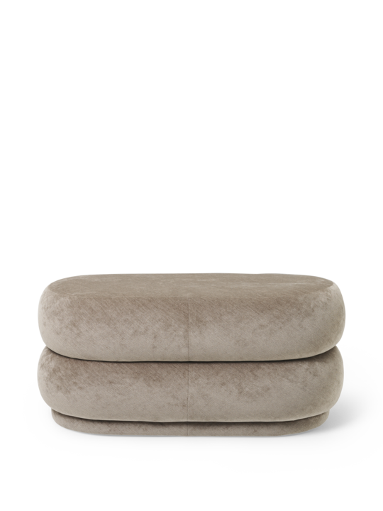 FERM LIVING | Pouf Oval - Faded Velvet Beige - Medium