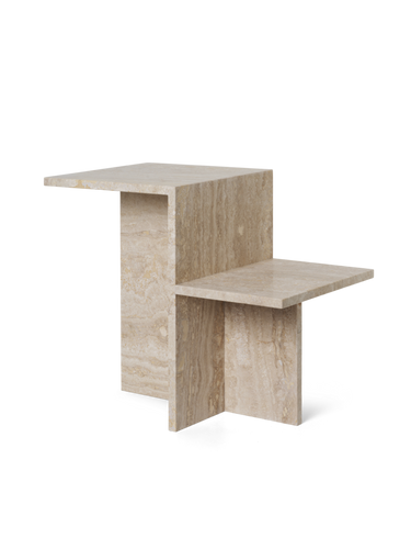 FERM LIVING | Distinct Side Table - Travertine
