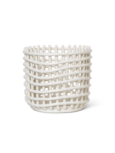 FERM LIVING | Ceramic Basket - Off-White (Multiple Sizes Available)