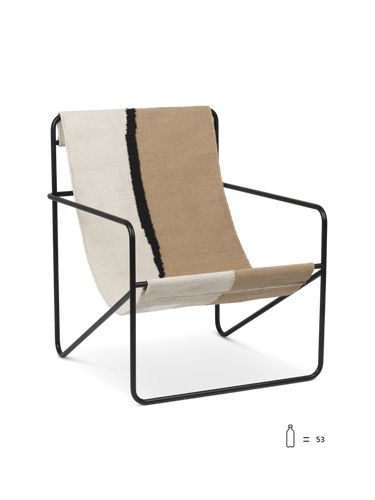 FERM LIVING | Desert Lounge Chair - Black Frame (Multiple Colours)