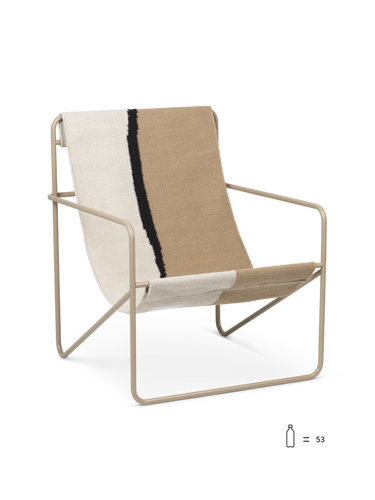 FERM LIVING | Desert Lounge Chair - Cashmere Frame (Multiple Colours)