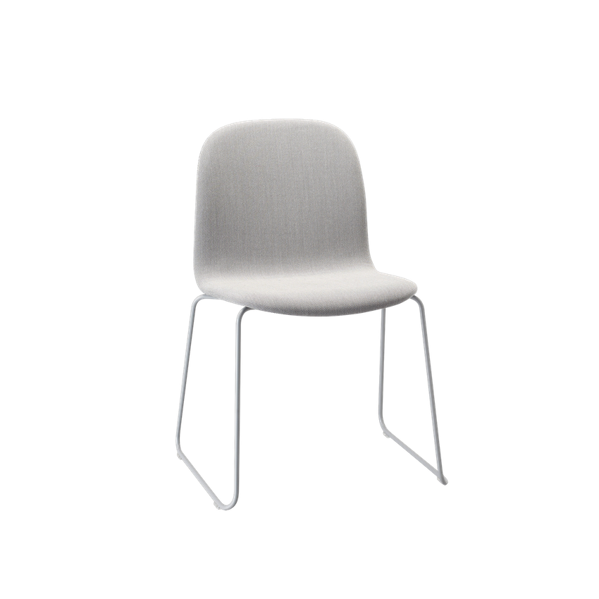 MUUTO | Visu Chair - Sled Base - Textile Seat (Steelcut Trio 133/Grey)