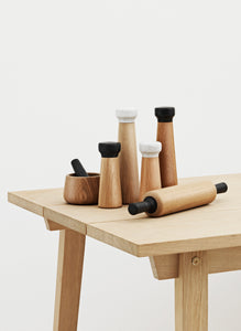 NORMANN COPENHAGEN | Craft Salt Mill Large Oak/White Marble