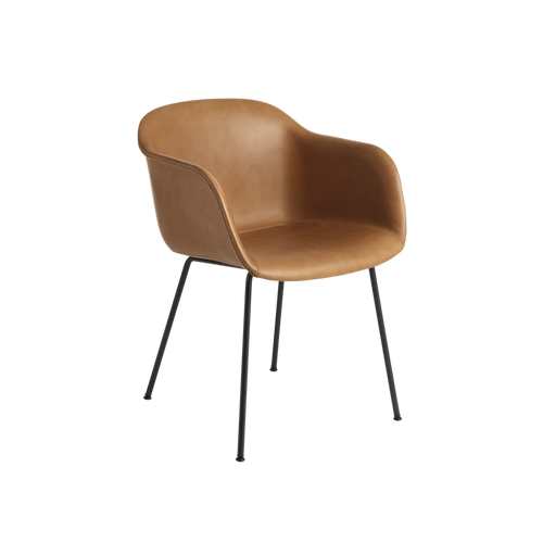 MUUTO | Fiber Armchair - Tube Base - Leather Seat (Multiple Colours Available)