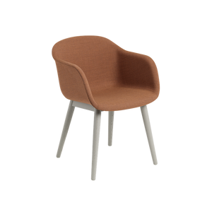 MUUTO | Fiber Armchair - Wood Base - Textile Seat (Multiple Colours Available)