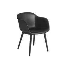 Load image into Gallery viewer, MUUTO | Fiber Armchair - Wood Base - Leather Seat (Multiple Colours Available)