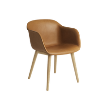 Cargar imagen en el visor de la galería, MUUTO | Fiber Armchair - Wood Base - Leather Seat (Multiple Colours Available)