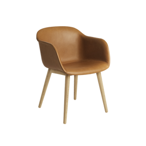 MUUTO | Fiber Armchair - Wood Base - Leather Seat (Multiple Colours Available)