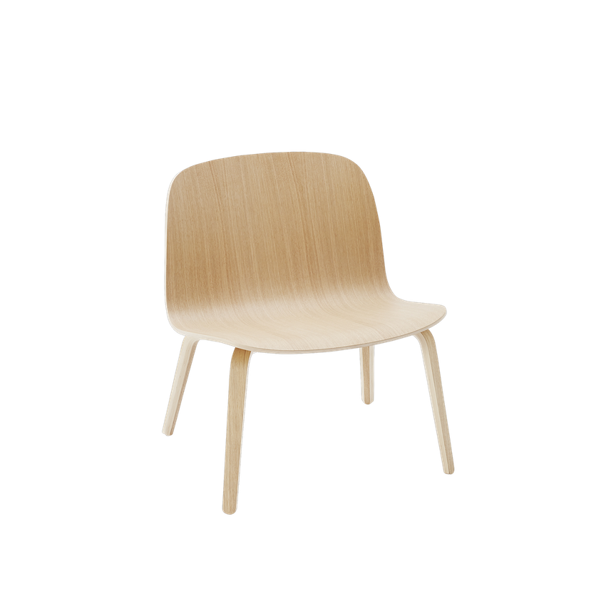 MUUTO | Visu Lounge Chair - Wood Seat (Multiple Colours Available)