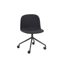 Load image into Gallery viewer, MUUTO | Visu Wide Chair - Swivel With Castors - Textile Seat (Remix 183)