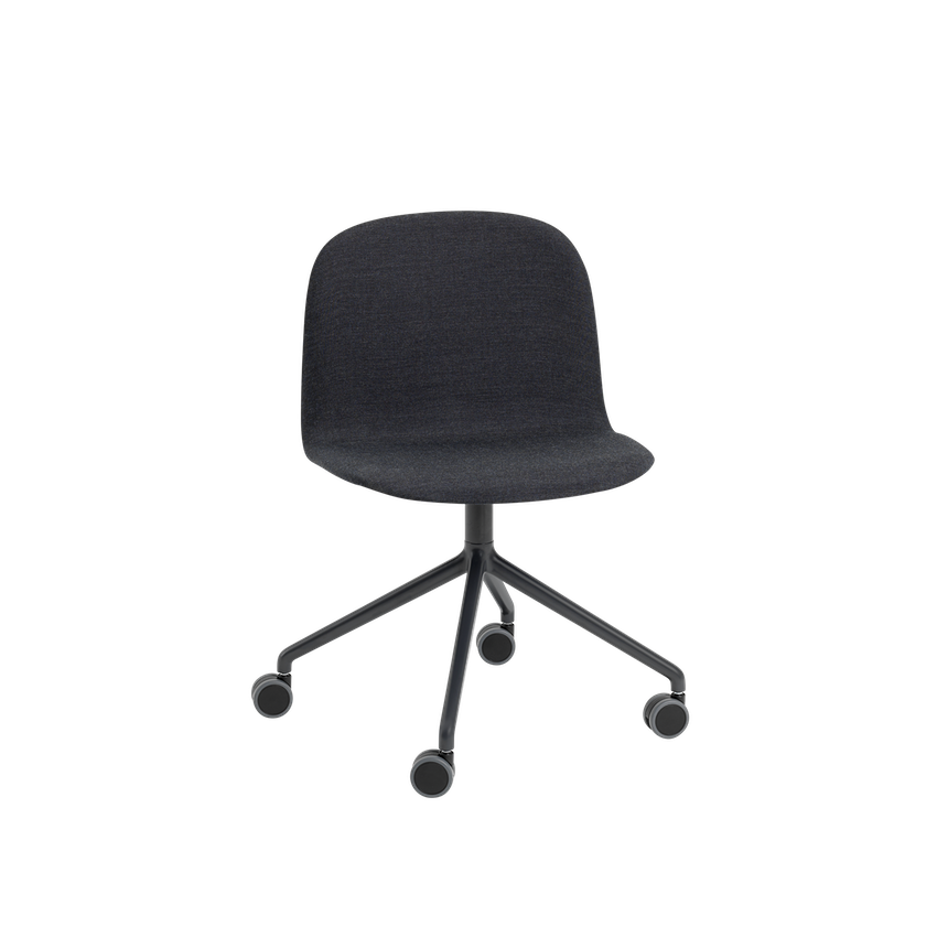 MUUTO | Visu Wide Chair - Swivel With Castors - Textile Seat (Remix 183)