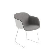 Load image into Gallery viewer, MUUTO | Fiber Armchair - Sled Base - Textile Seat (White/Remix 133)