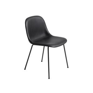 MUUTO | Fiber Side Chair - Tube Base - Leather Seat (Multiple Colours Available)