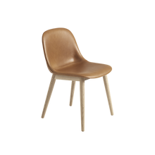 Load image into Gallery viewer, MUUTO | Fiber Side Chair - Wood Base - Leather Seat (Multiple Colours Available)