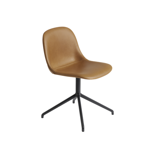 MUUTO | Fiber Side Chair - Swivel - Leather Seat (Multiple Colours Available)