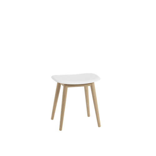 MUUTO | Fiber Stool - Wood Base - Fiber Seat (Multiple Colours Available)