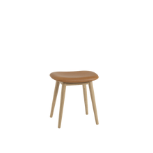Load image into Gallery viewer, MUUTO | Fiber Stool - Wood Base - Leather Seat (Multiple Colours Available)