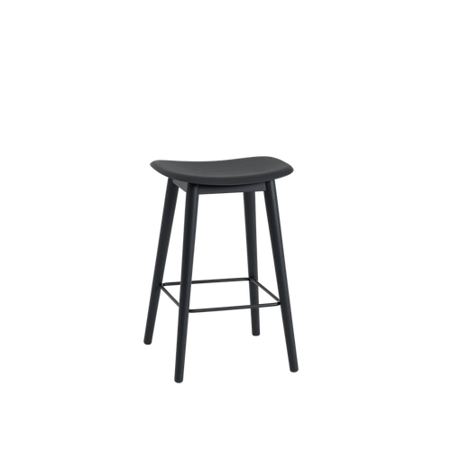 MUUTO | Fiber Bar Stool - Wood Base - 65cm (Multiple Colours Available)