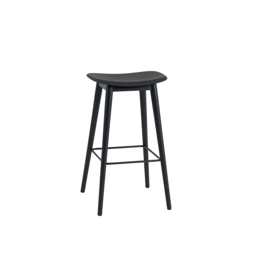MUUTO | Fiber Bar Stool - Wood Base - 75cm (Multiple Colours Available)