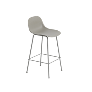 MUUTO | Fiber Bar Stool - Tube Base - 65cm with Backrest (Multiple Colours Available)