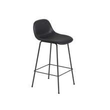 Load image into Gallery viewer, MUUTO | Fiber Bar Stool - Tube Base - 65cm with Backrest (Multiple Colours Available)
