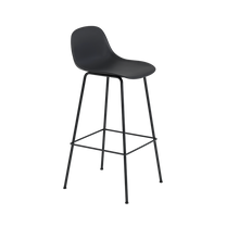 Load image into Gallery viewer, MUUTO | Fiber Bar Stool - Tube Base - 75cm with Backrest (Multiple Colours Available)