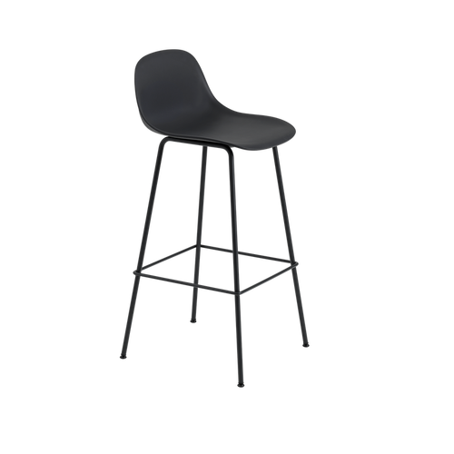 MUUTO | Fiber Bar Stool - Tube Base - 75cm with Backrest (Multiple Colours Available)