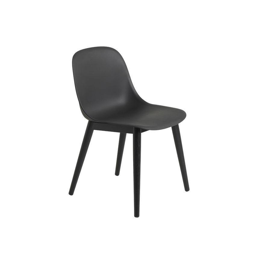 MUUTO | Fiber Side Chair - Wood Base - Fiber Seat (Multiple Colours Available)