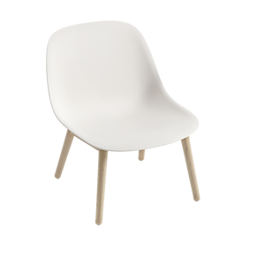 MUUTO | Fiber Lounge Chair - Wood Base - Fiber Seat (Multiple Colours Available)