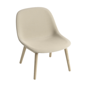 MUUTO | Fiber Lounge Chair - Wood Base - Textile Seat (Multiple Colours Available)
