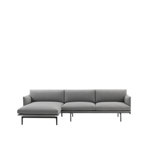 MUUTO | Outline Chaise Lounge, Left (Multiple Colours Available)